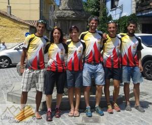 Selección Catalana FEEC en el pasado Cto. España ultratrail celebrado en Madrid (GRP)