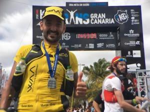 Jordi Gamito satisfet després d'aconseguir la 10a posició. (c) Albert Jorquera